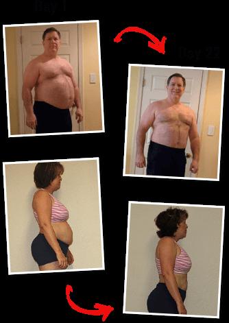 Body transformation results